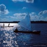 Sailing Canoe Silloette